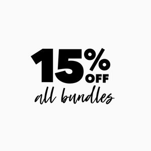 15% off ALL bundles!